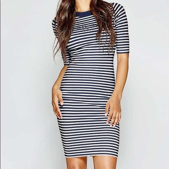 Guess Dresses & Skirts - GUESS A$AP ROCKY 90S STRIPED DRESS NWT‼️
